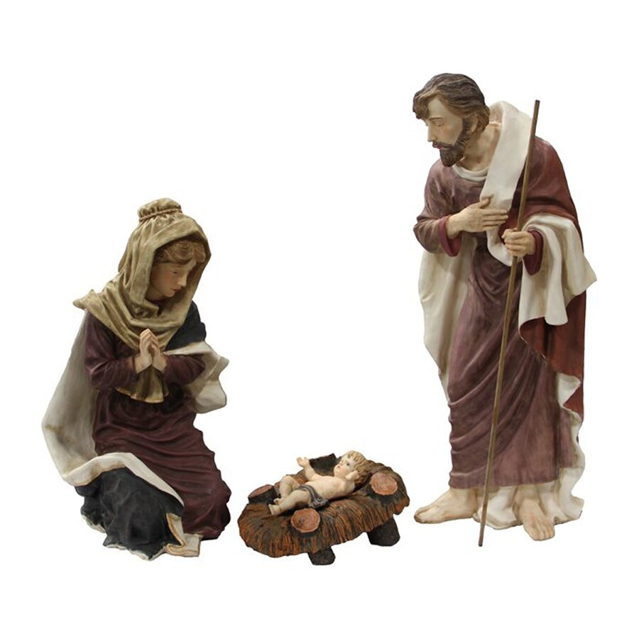 Lighted Nativity Free Standing Sculpture Outdoor Christmas