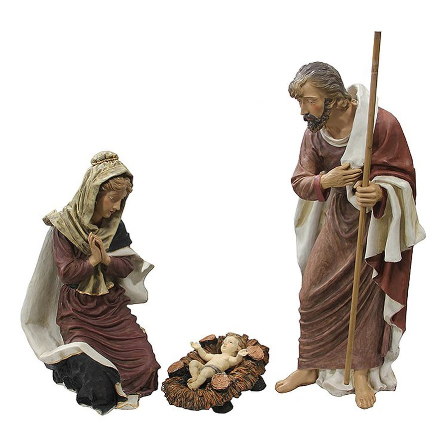 Northlight 4.16-ft Freestanding Nativity Sculpture