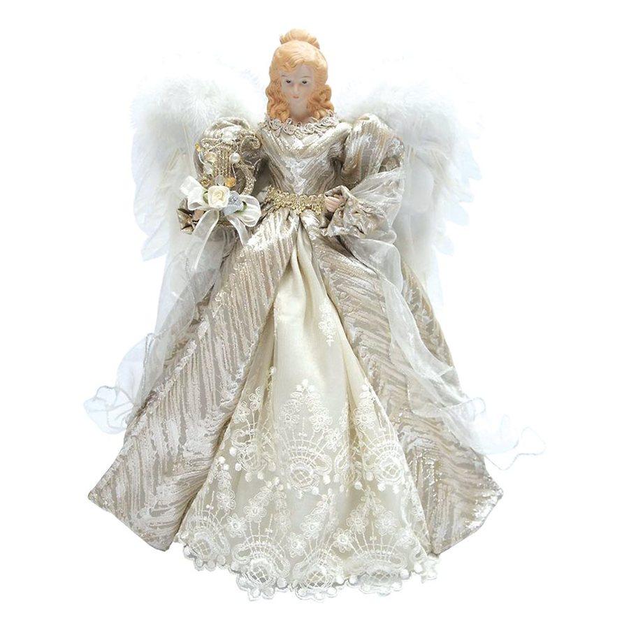 santas workshop 16 in fabric angel christmas tree topper - Angel Christmas Tree