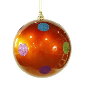 vickerman orange ball ornament