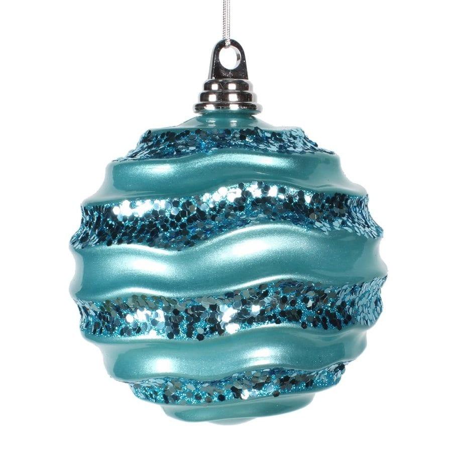 Vickerman Teal Ball Ornament