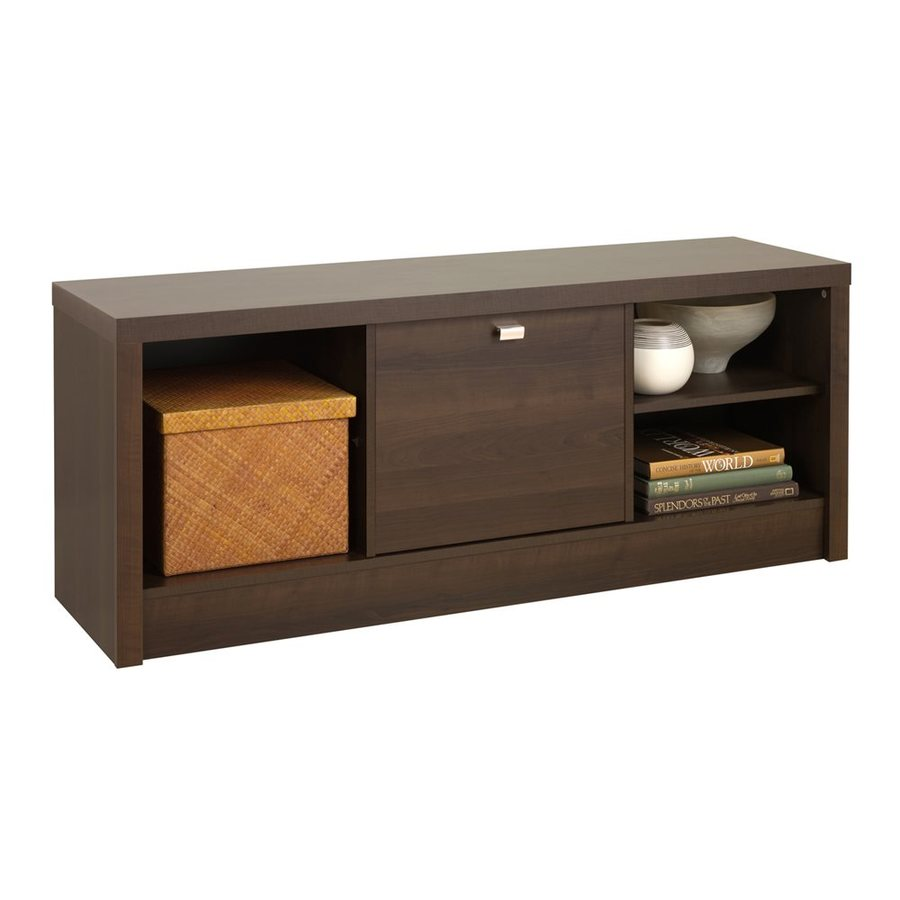 Shop Prepac Furniture Series 9 Transitional Espresso Storage Bench At