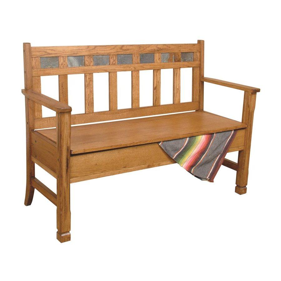 Shop Sunny Designs Sedona Traditional Rustic Oak Storage Bench At