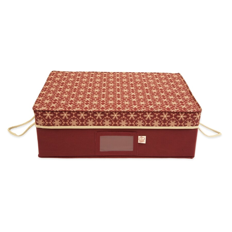 TreeKeeper 19.5-in x 10-in Red Ornament Storage Bag