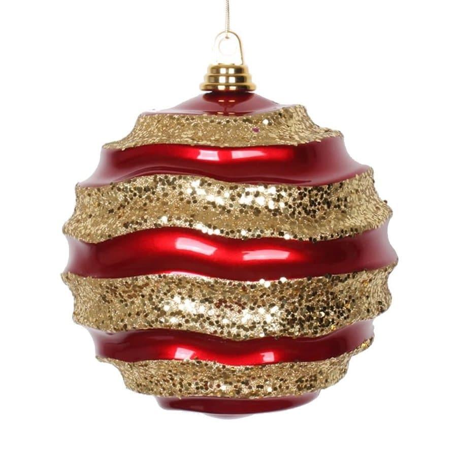 Vickerman Red/Gold Ball Ornament