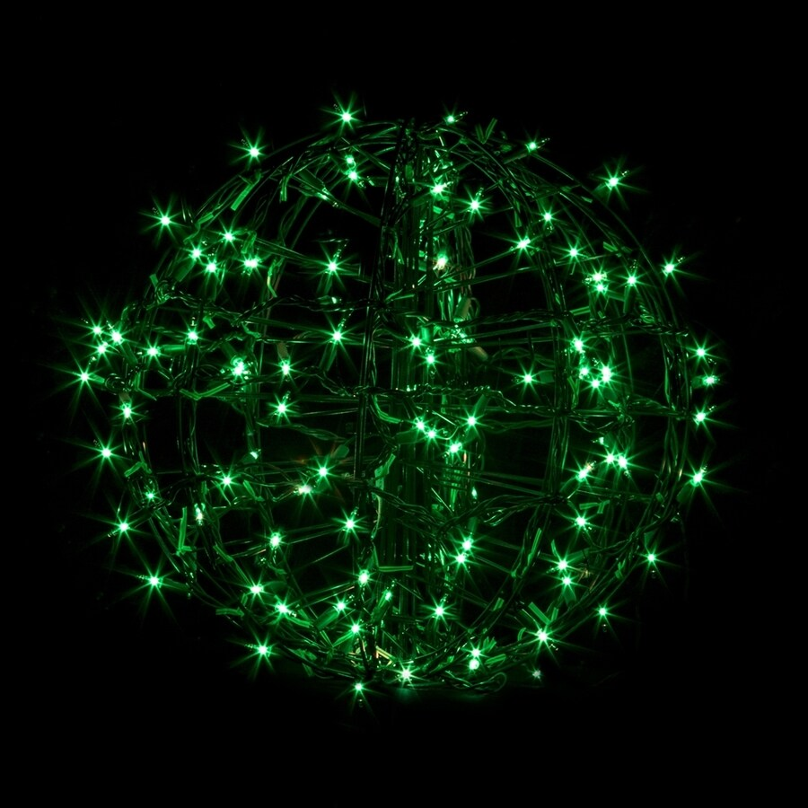 Crab Pot Trees 1.25-ft Hanging Ball Light Display Green Incandescent Lights
