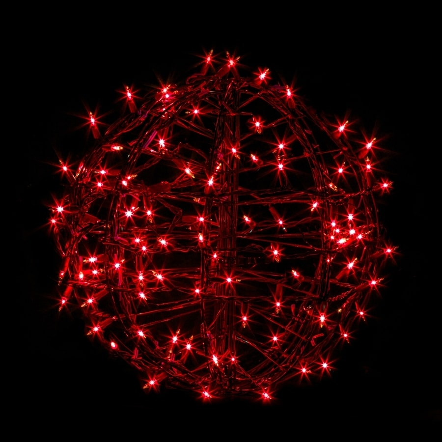 Crab Pot Trees 1.25-ft Hanging Ball Light Display Red Incandescent Lights
