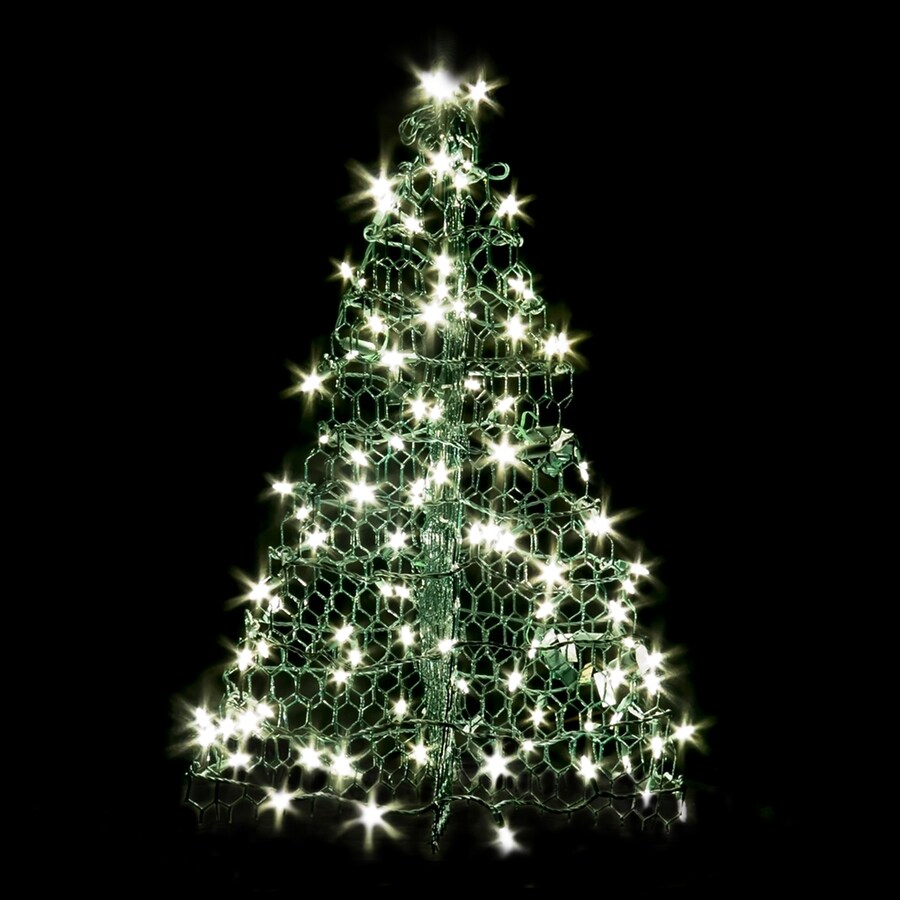 Crab Pot Trees 3-ft Freestanding Tree Light Display with White LED Lights