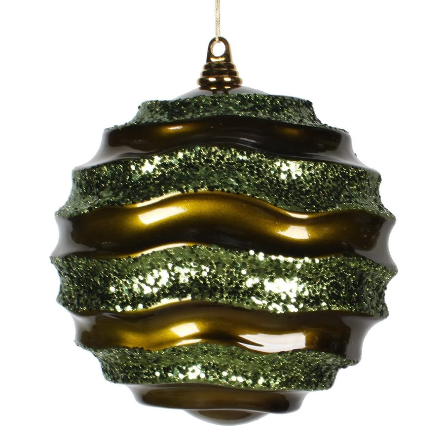 Vickerman Olive/Gold Ball Ornament