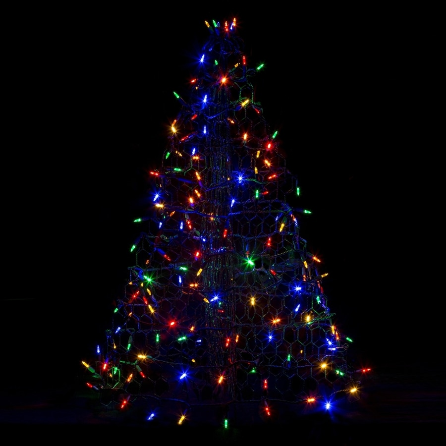 Crab Pot Trees 3-ft Freestanding Tree Light Display with Multicolor LED Lights