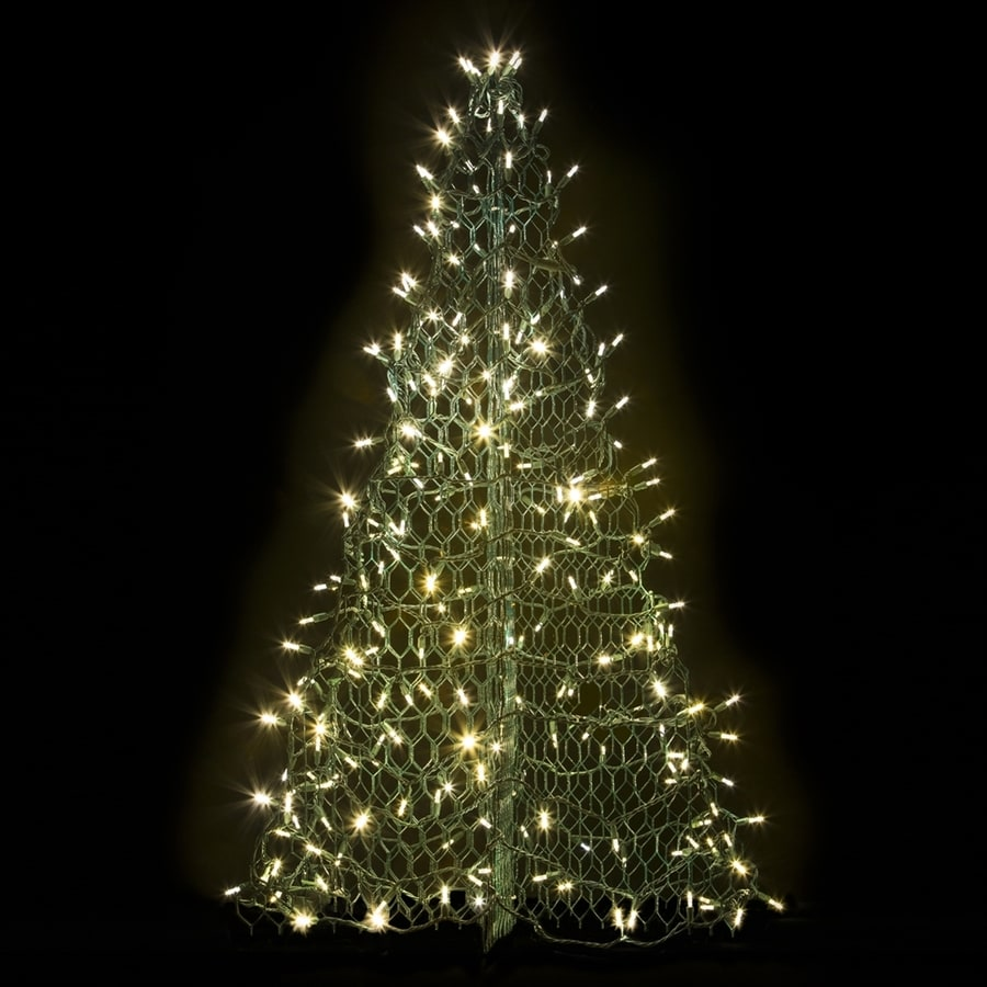 Crab Pot Trees 4-ft Freestanding Tree Light Display with White LED Lights