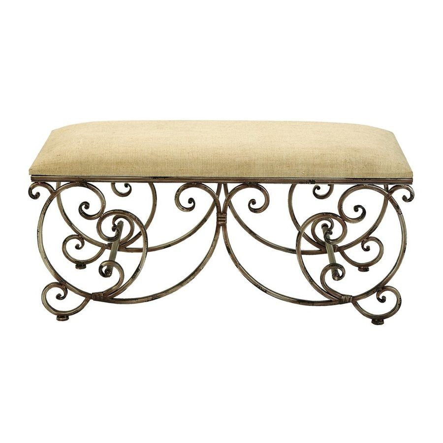 Woodland Imports Traditional Natural Accent Bench