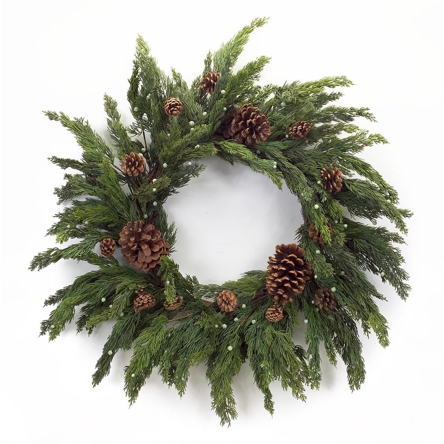 Melrose International 28-in  Cypress Artificial Christmas Wreath