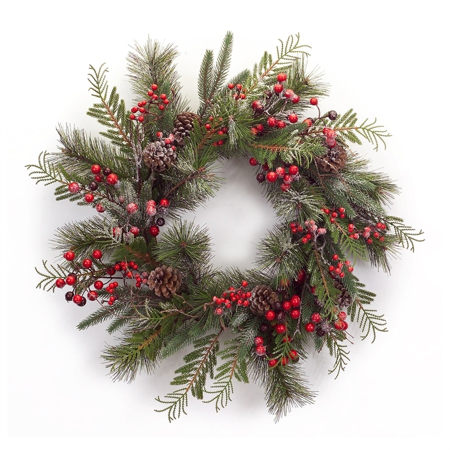 Melrose International 21-in Berry Artificial Christmas Wreath