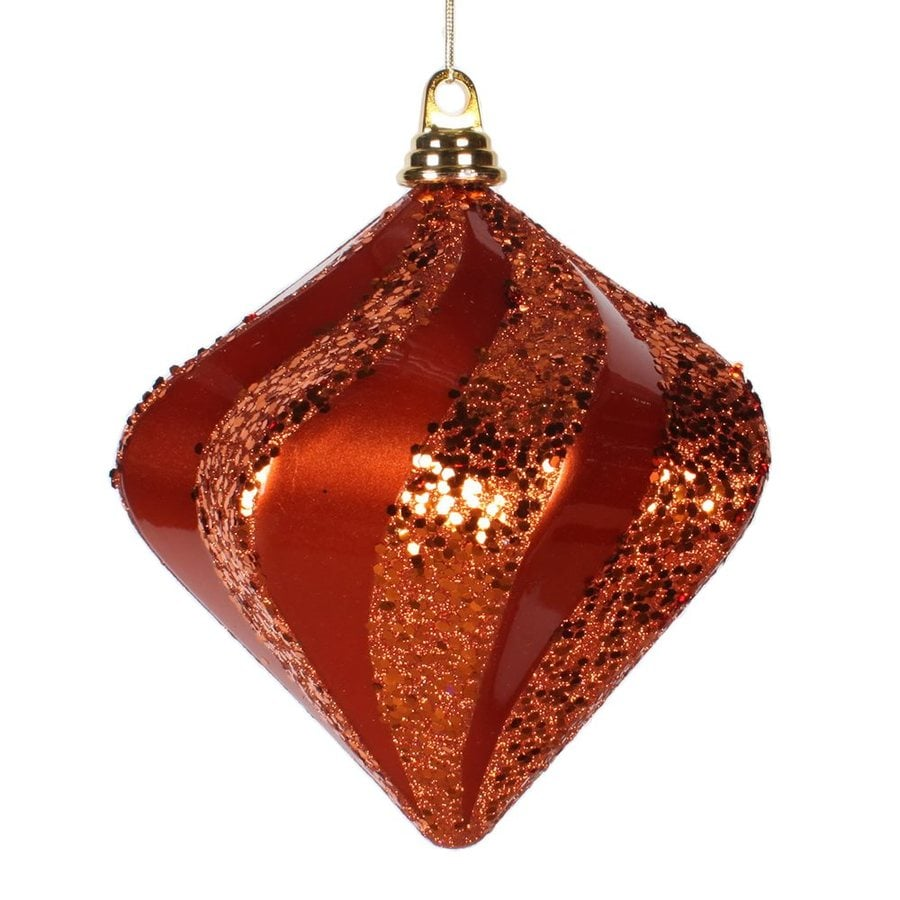 Vickerman Orange Diamond Ornament