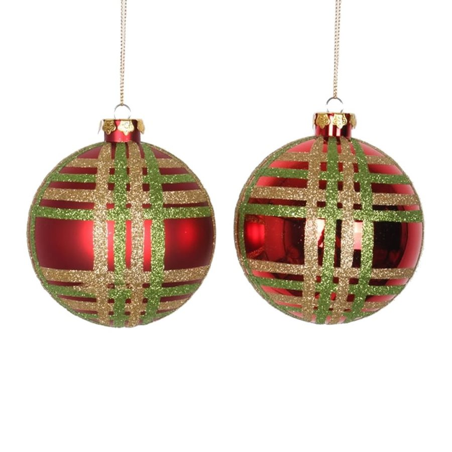 Vickerman 4-Pack Red/Lime/Gold Ball Ornament Set