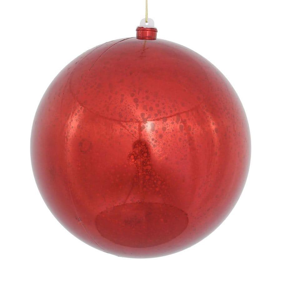 Vickerman Red Shiny Ball Ornament