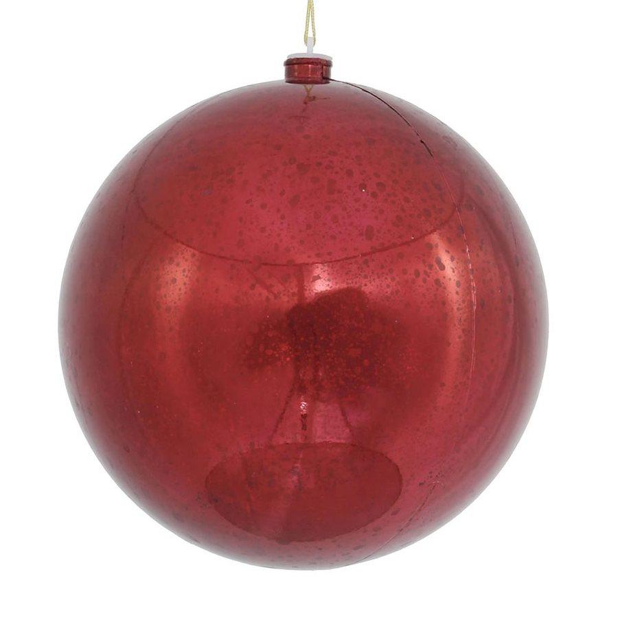 Vickerman Burgundy Shiny Ball Ornament