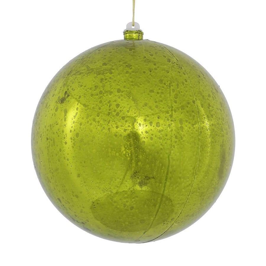 Vickerman Lime Shiny Ball Ornament