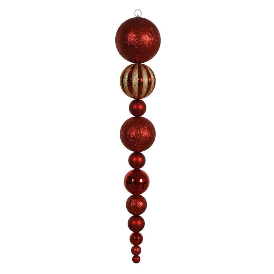 Vickerman Red Finial Ornament