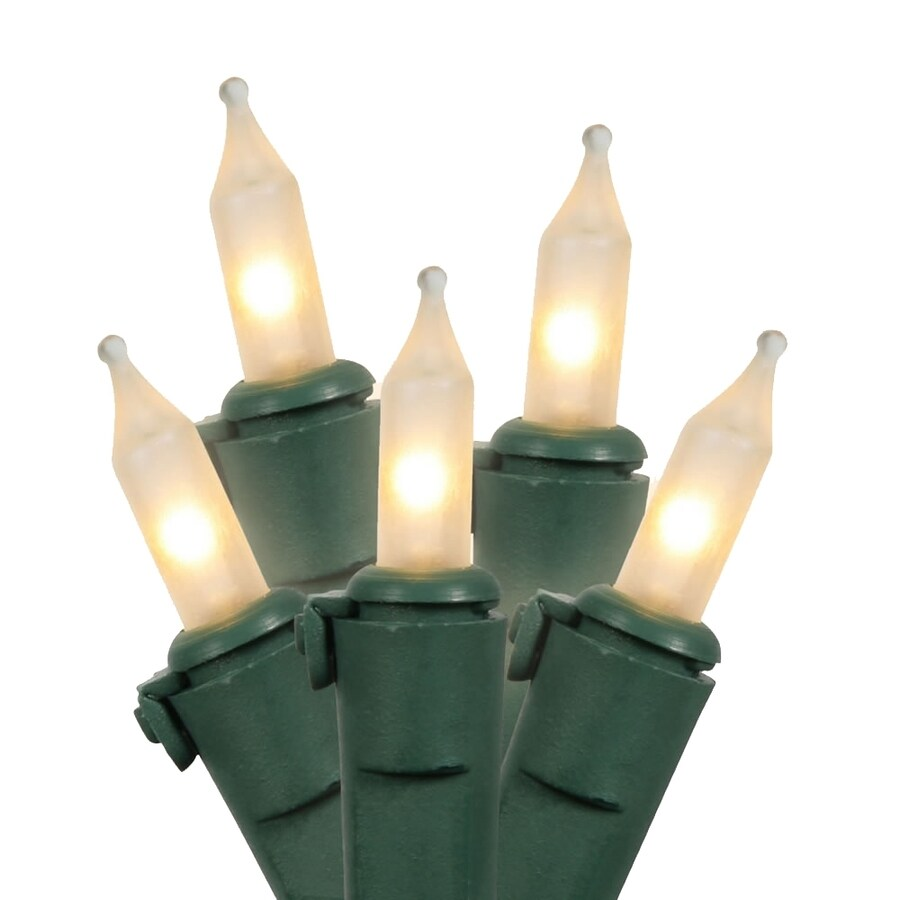 Vickerman 100-Count Constant Warm White Mini Incandescent Plug-In Indoor/Outdoor Christmas String Lights