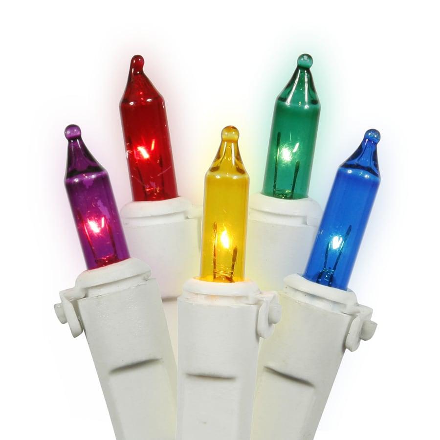 Vickerman 50-Count Constant  Multicolor Mini Incandescent Plug-In Indoor Christmas String Lights
