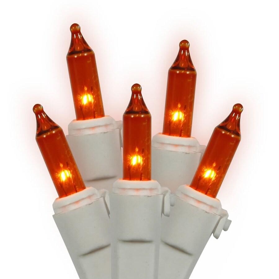 Vickerman 50-Count Constant  Orange Mini Incandescent Plug-In Indoor Christmas String Lights