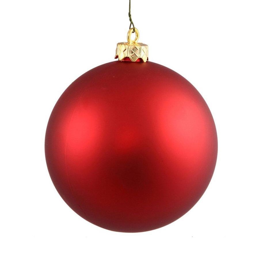 Vickerman Red Matte Ball Ornament