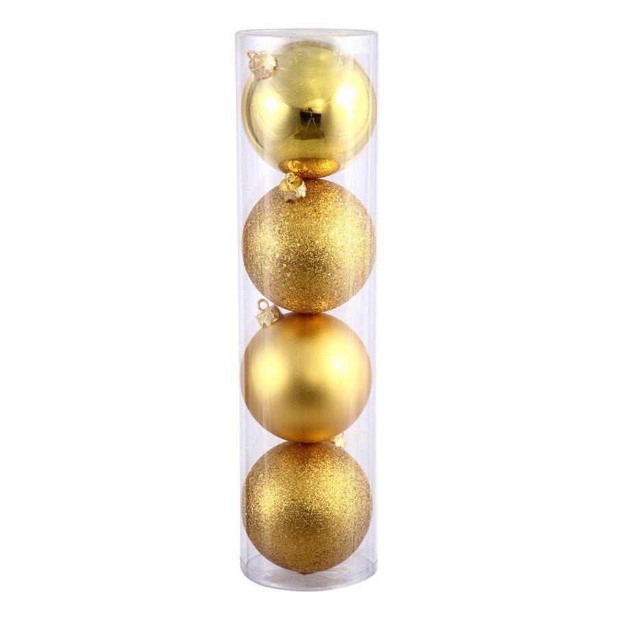 Vickerman 12-Pack Gold Ball Ornament Set