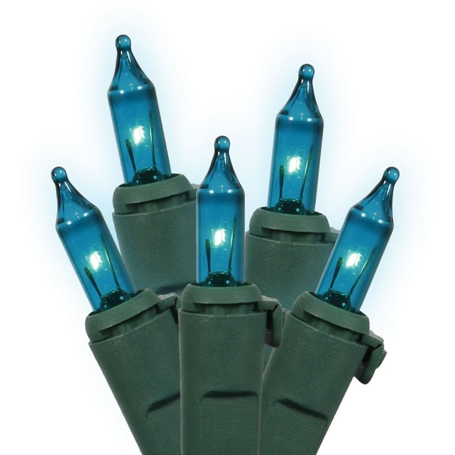 Vickerman 100-Count Constant  Blue Mini Incandescent Plug-In Indoor Christmas String Lights