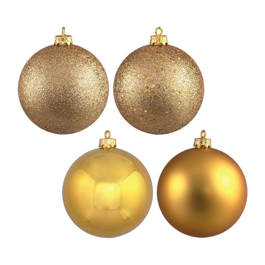 Vickerman 4-Pack Gold Ball Ornament Set