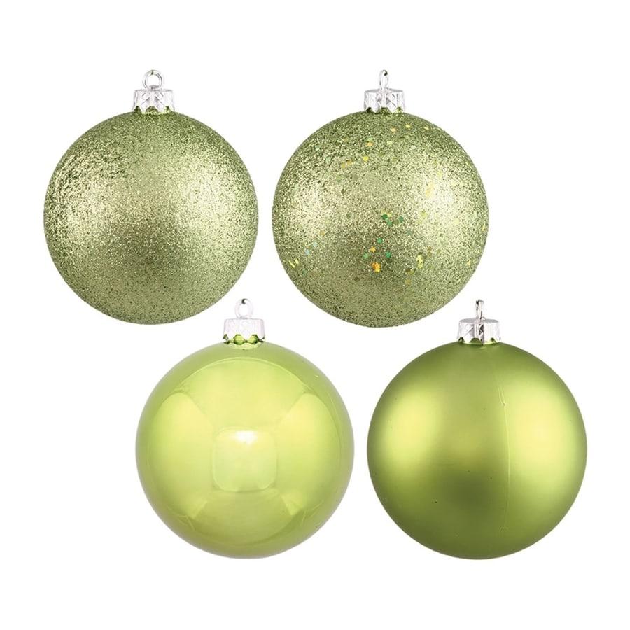 Vickerman 4-Pack Lime Ball Ornament Set