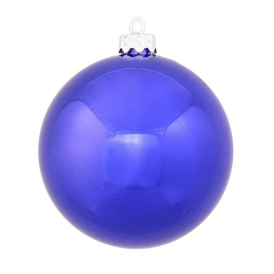 Vickerman Cobalt Blue Shiny Ball Ornament