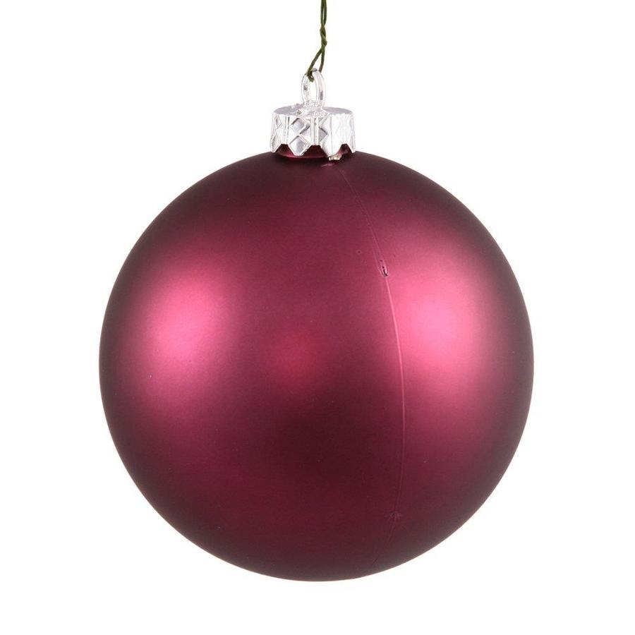 Vickerman Plum Matte Ball Ornament