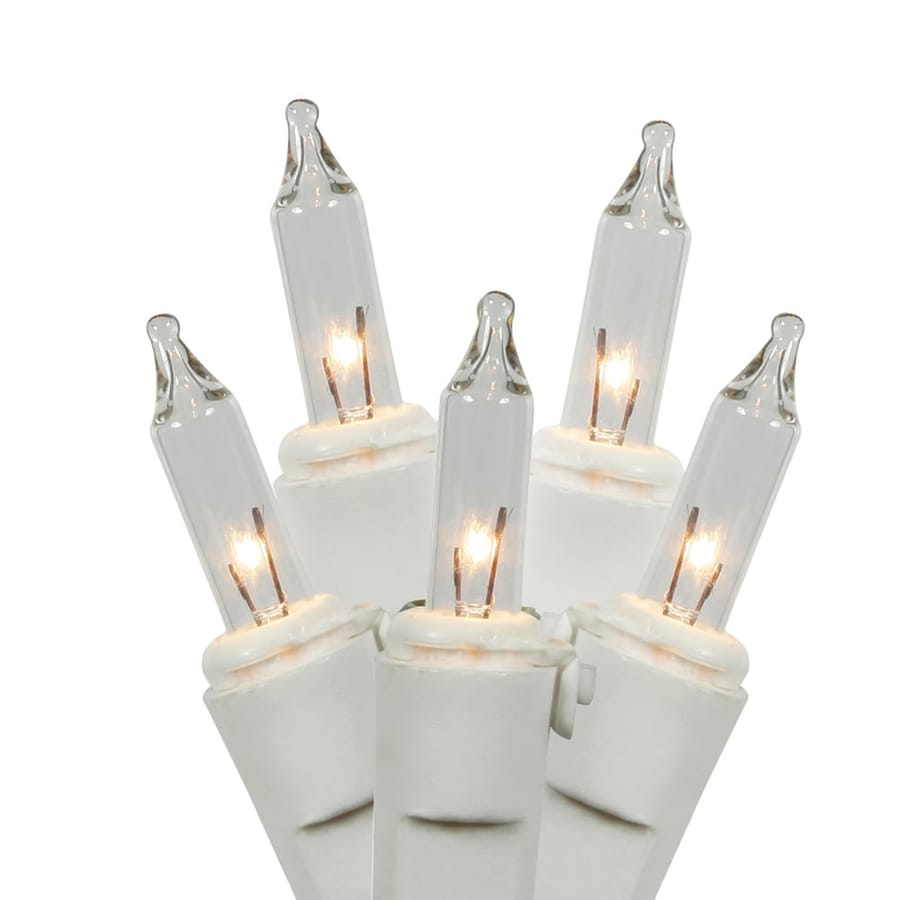 Vickerman 100-Count Constant Clear White Mini Incandescent Plug-In Indoor Christmas String Lights