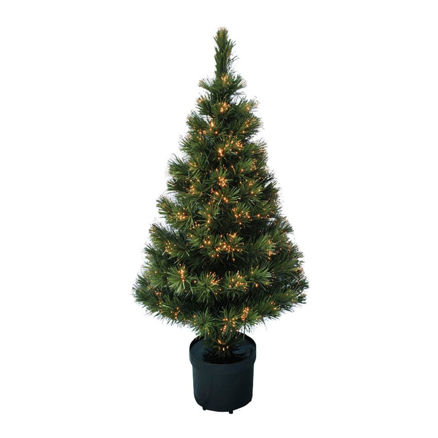 northlight 4 ft pre lit artificial christmas tree with color changing multicolor - Black Artificial Christmas Tree