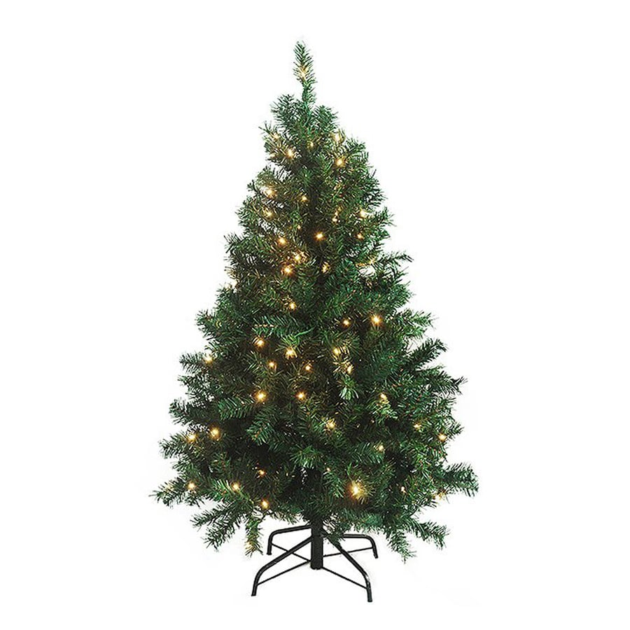 shop northlight 4 ft 6 in pre lit cedar pine artificial christmas tree with 250 clear white. Black Bedroom Furniture Sets. Home Design Ideas