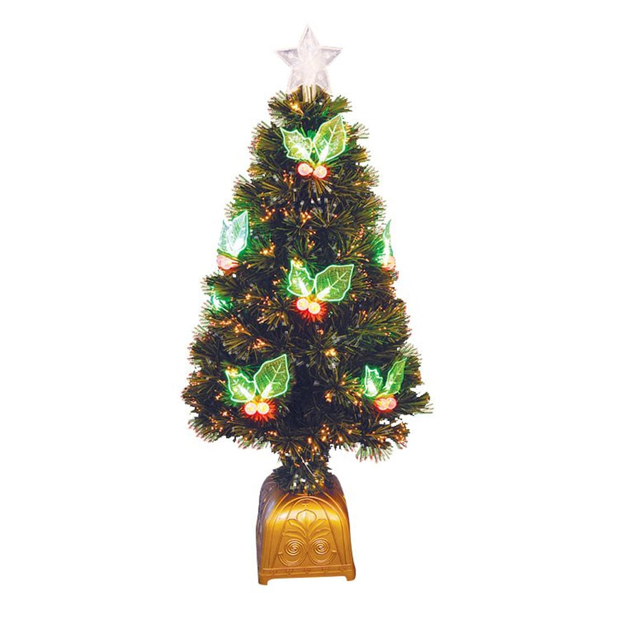 Northlight 4-ft Pre-lit Whimsical Artificial Christmas Tree with Fiber Optics and LED Lights