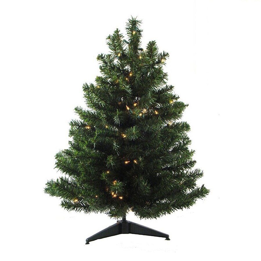 Northlight 1-ft 6-in Pre-lit Artificial Christmas Tree with 30 Clear White Incandescent Lights