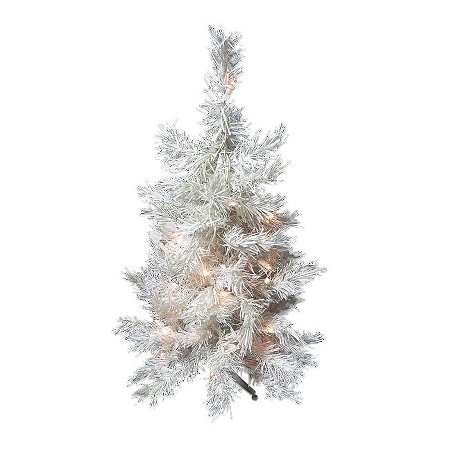 Northlight 1-ft 6-in Pre-lit Slim Artificial Christmas Tree with 30 Clear White Incandescent Lights