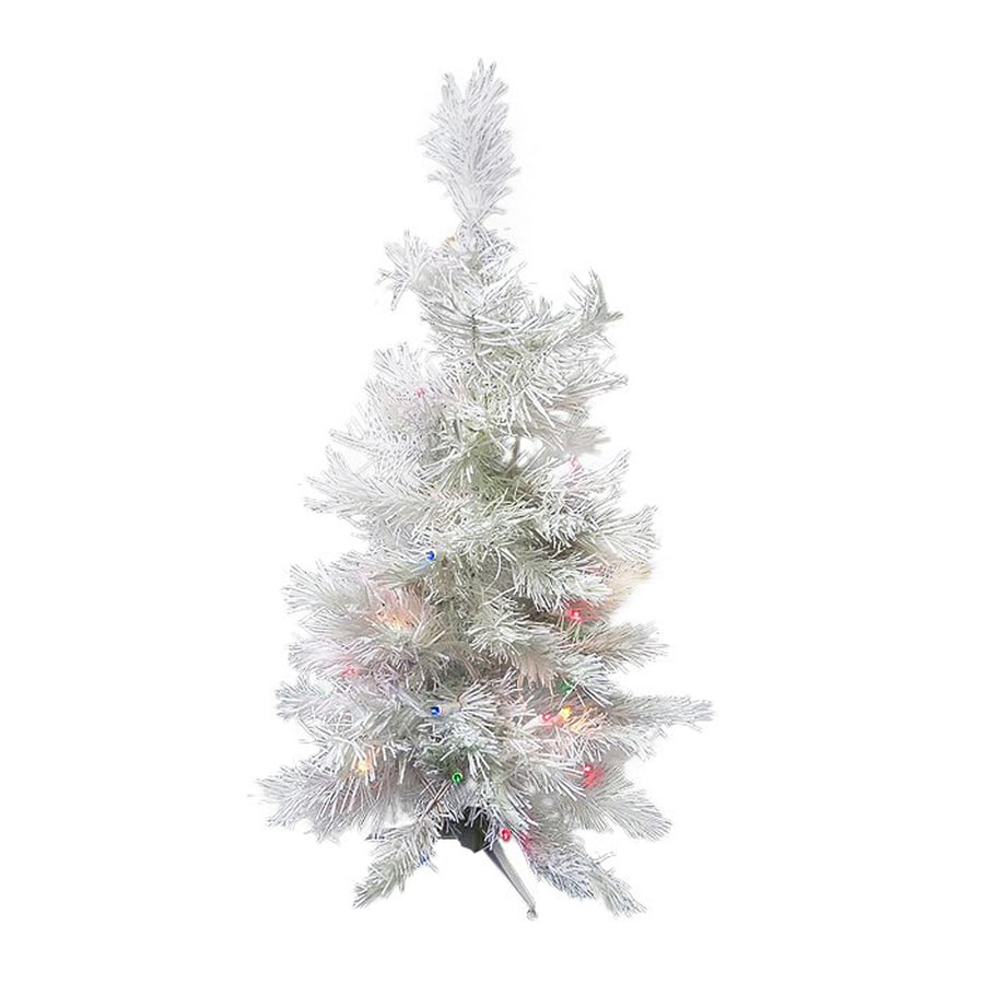 Northlight 2-ft Pre-lit Slim Artificial Christmas Tree with 30 Constant Multicolor LED Lights