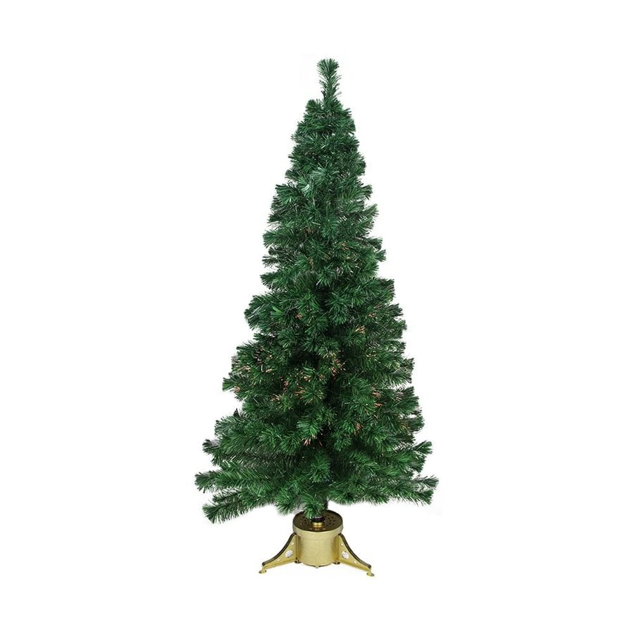 Shop Northlight 7-ft Pre-lit Artificial Christmas Tree with Color ...