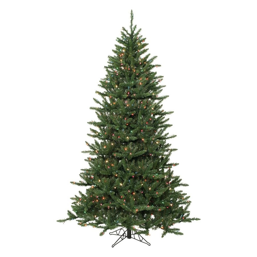 Northlight 7-ft 6-in 2,935-Count Pre-Lit Frasier Fir Artificial Christmas Tree with 1,200 Multicolor Lights