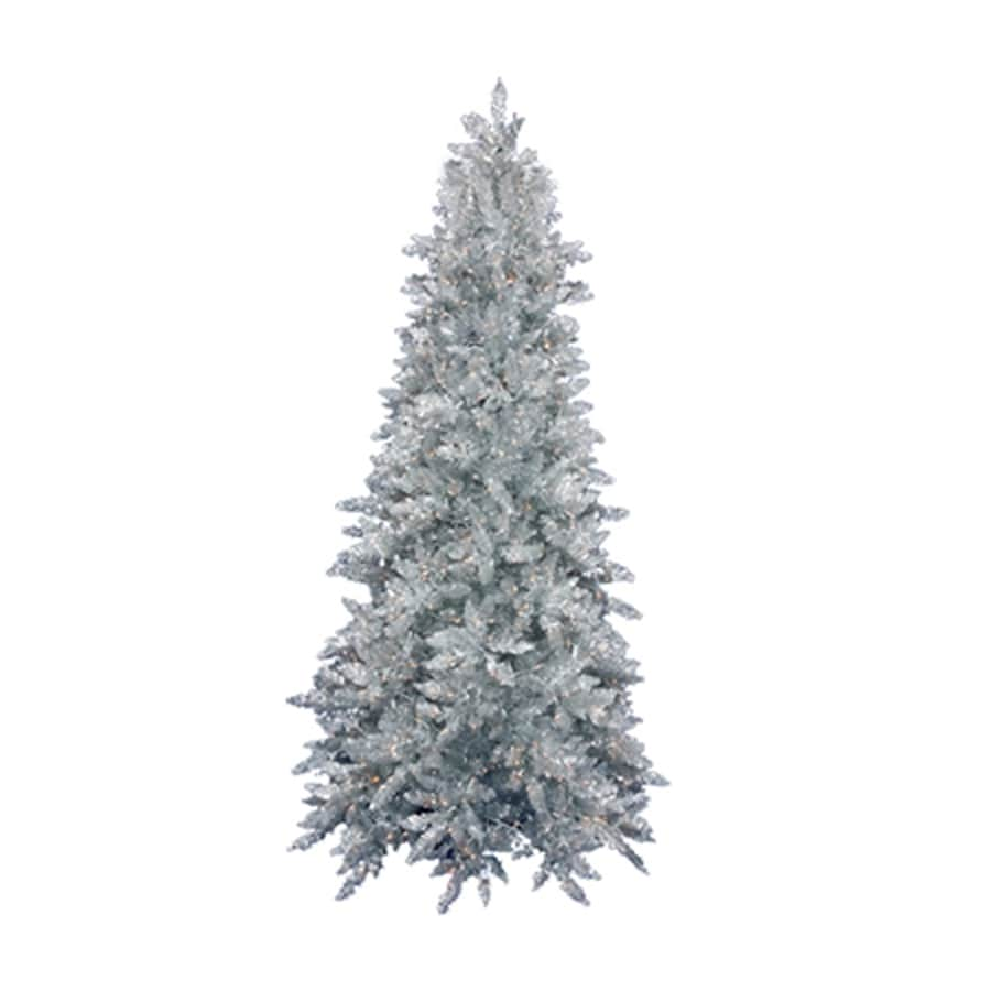 Northlight 7-ft 6-in Pre-lit Slim Artificial Christmas Tree with 750 Clear White Incandescent Lights