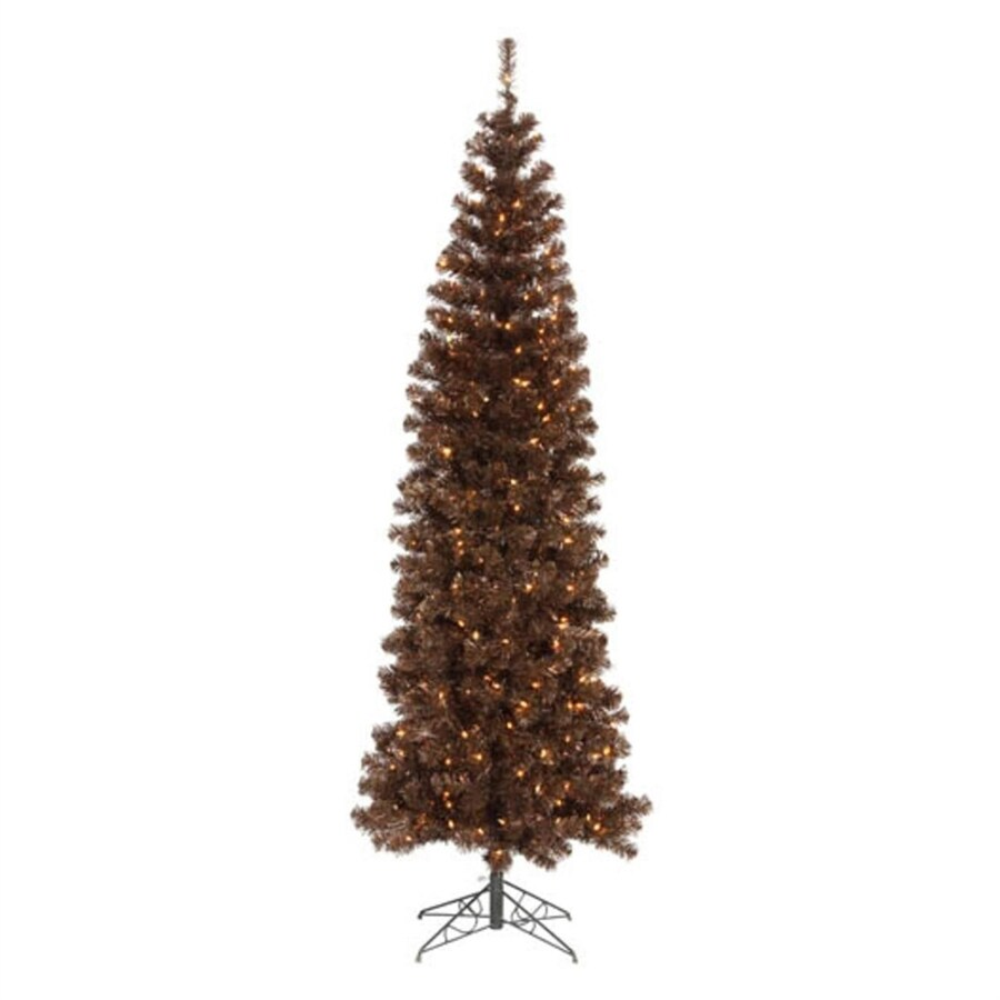 Northlight 7-ft 6-in Pre-lit Slim Artificial Christmas Tree with 400 Clear White Incandescent Lights
