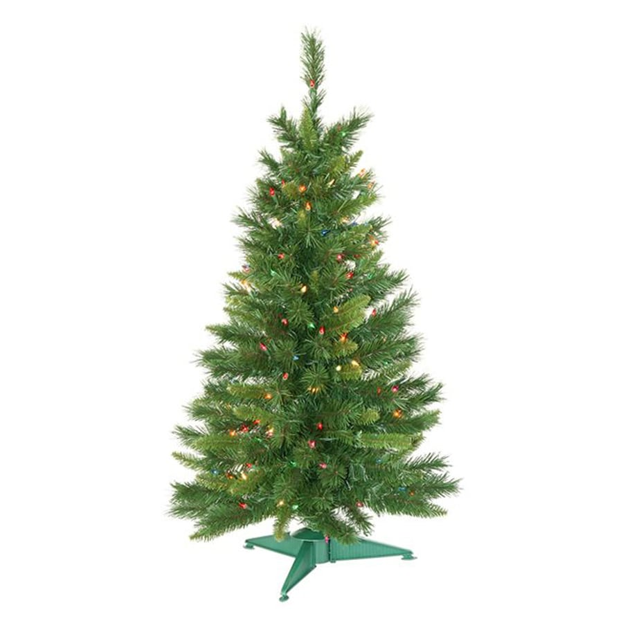 Northlight 3-ft 6-in 173-Count Pre-Lit Imperial Pine Artificial Christmas Tree with 150 Multicolor Clear Incandescent Lights