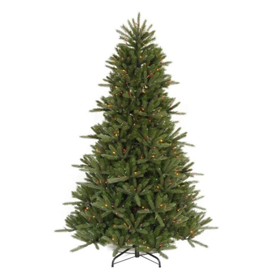 Northlight 6-ft 6-in Pre-lit Vermont Fir   Artificial Christmas Tree with 600 Multicolor Lights