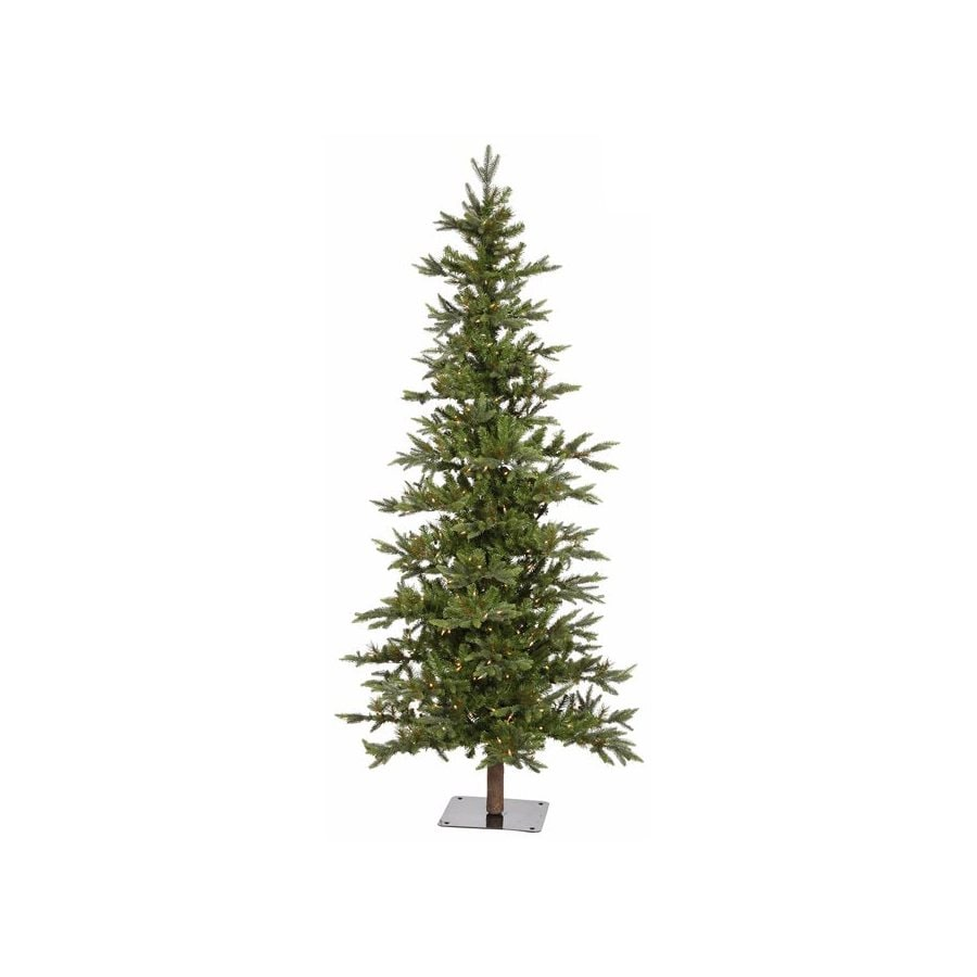 northlight 8 ft 1194 count pre lit alpine slim artificial christmas tree with