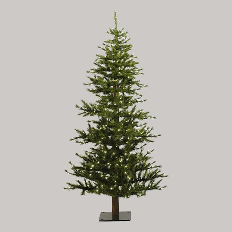 Northlight 7-ft Pre-lit Slim Artificial Christmas Tree with 300 Clear White Incandescent Lights