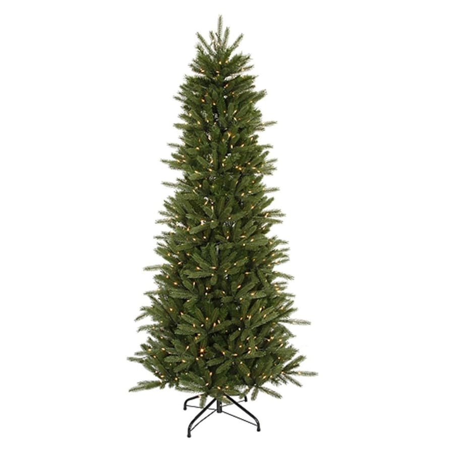 Northlight 7-ft 6-in Pre-lit Slim Artificial Christmas Tree with 550 Clear White Incandescent Lights